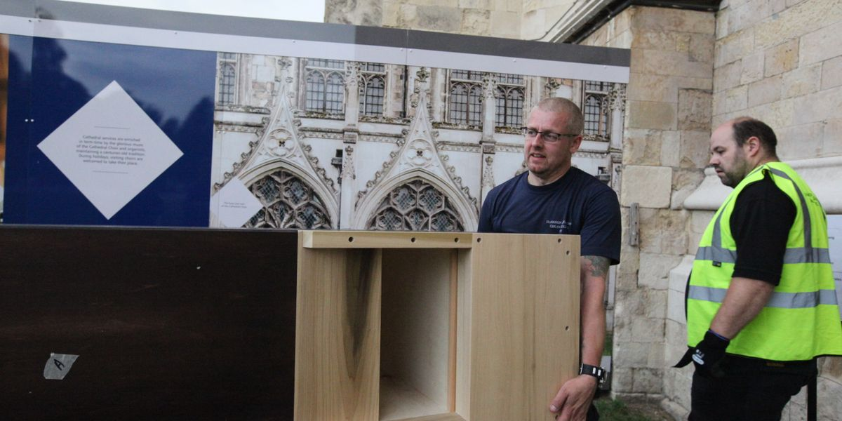 First new pipes arrive for Cathedral organ