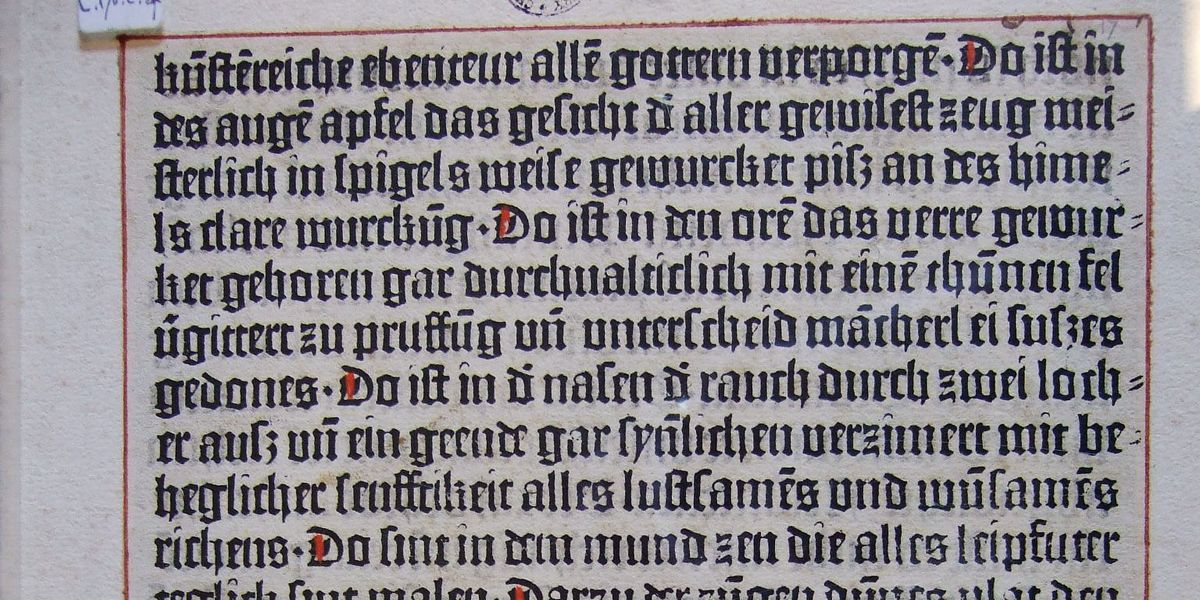 Canterbury Cathedral's oldest printed item