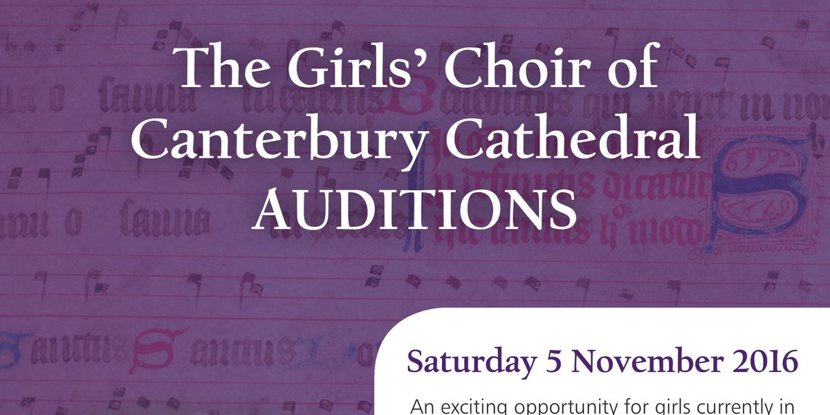 Girls' Choir auditions
