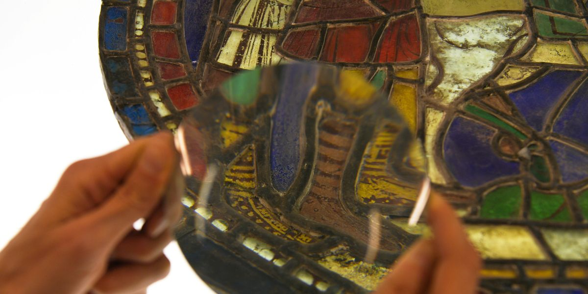 Exciting 12th century stained glass discovery