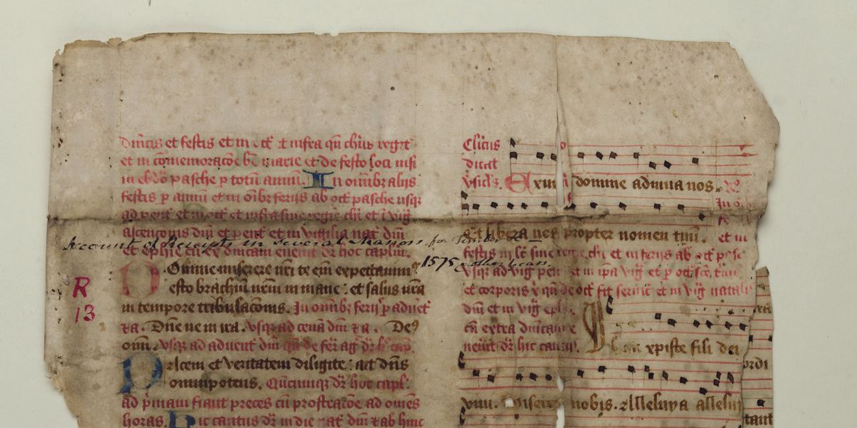 The life-cycle of a medieval music fragment