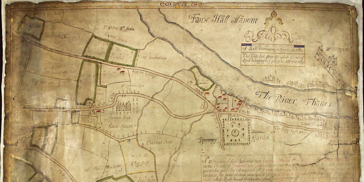 The Cathedral as landowner: the Vauxhall map