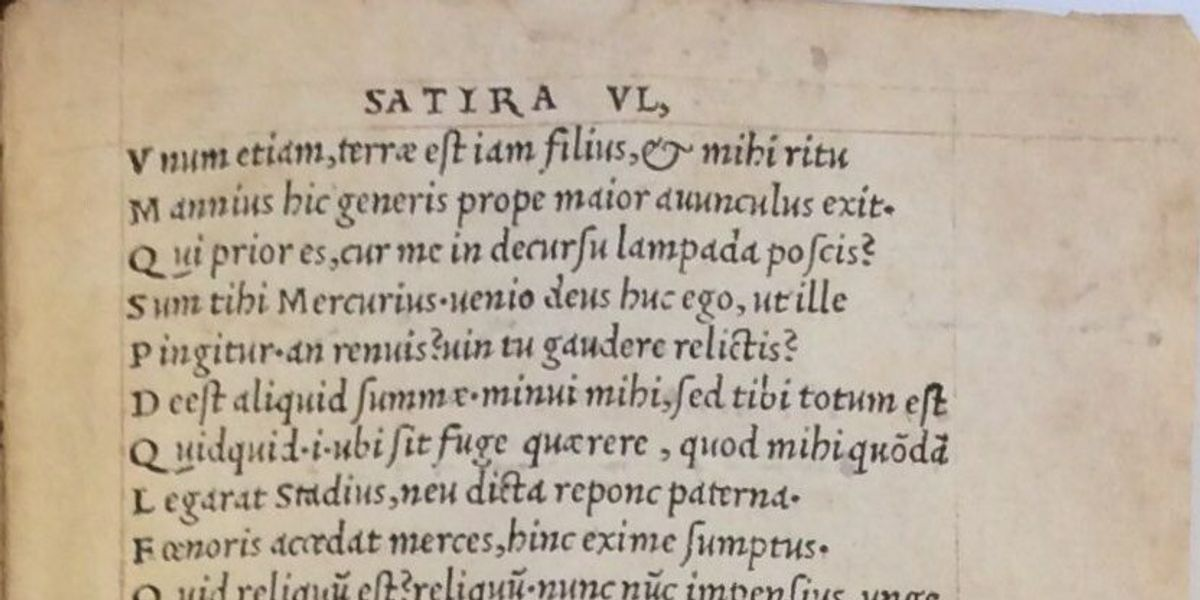 Item 7: Cashing in on a new invention: Aldus Manutius, italic type and small-format books