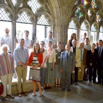 Topping out ceremony for the North West Transept