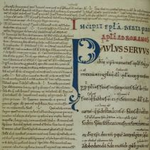 Item 2: the St Paul's Epistles from St Augustine's Abbey (page)