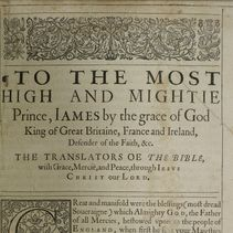 Item 10: The King James Bible (page)