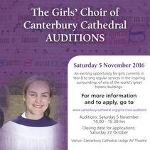 Girls' Choir auditions
