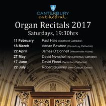Organ recitalists announced for 2017 season