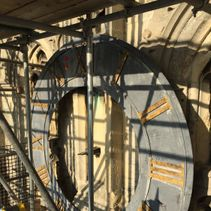Face lift time for Cathedral clock