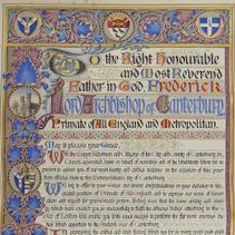 Victorian Archbishops: Archbishop Frederick Temple's welcome scroll