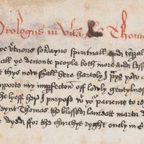 'Blissed Thomas Cristes famous clerke': a manuscript of a late Life of St Thomas Becket