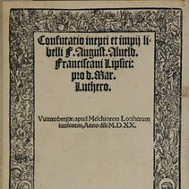 Item 8: Martin Luther and the pamphlet war at Wittenberg